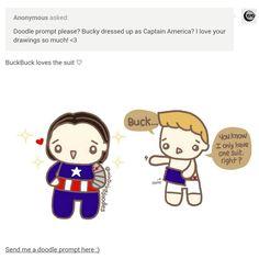 Buck no #CaptainAmerica #SteveRogers #WinterSoldier #BuckyBarnes #Stucky #mintmintdoodles