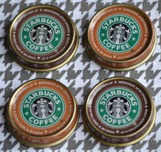 Bottled Starbucks Frappuccino Magnets - So cute and so fun!
