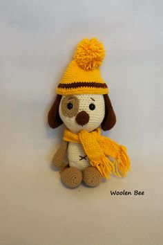 Crochet dog. Pattern by Amalou.Designs