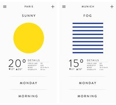 Weather app on App Design Served