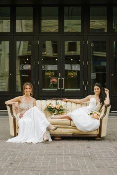 Chic Garden in the City Inspiration - ORANGE TRUNK VINTAGE STYLING & RENTALS Spring Wedding Decorations, Wedding Themes, Wedding Designs, Wedding Colors, Wedding Styles, Spring Weddings, Peach Weddings, Wedding Dresses, Wedding Ideas