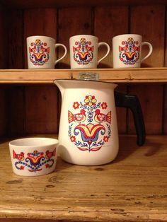 Vintage 5 Piece Berggren Scandinavian Coffee Pot Set