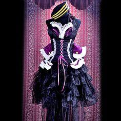cosplay Kostüm von Macross Frontier Sheryl Nome schwarze lolita inspiriert - EUR € 65.99