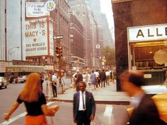 New York City street scene, 1960s.