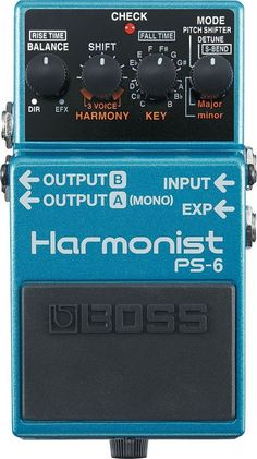 BOSS PS-6 Harmonist The BOSS PS-6 packs four different pitch shifting effects and a three-voice harmony effect in one tough and compact pedal! This is the new standard for pitch shifting with unheard-