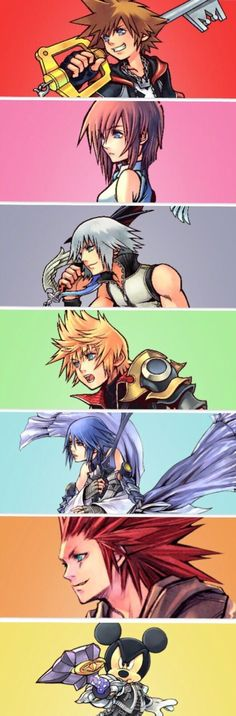 The Seven Sora, Kairi, Riku, Ven, Aqua, Lea, King Mickey -Kingdom Hearts  #kingdomhearts #cosplayclass #anime