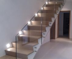 Manufacturer of Stainless Steel Toughened Glass Staircase Railings, SS Toughened Glass Staircase Railings in Delhi & NCR Staircase Railing Design, House Staircase, Modern Stairs, Modern Door, Stainless Steel Staircase, Glass Stairs, Glass Railing, Escalier Design, Flooring For Stairs