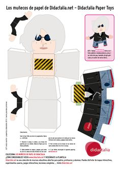 Andy Warhol Papertoy / Graphic Design by Quique Fdez. / Didactalia 2013