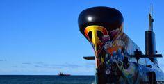 https://flic.kr/p/Na1wXf | Onondaga Yellow Submarine | Fresque commandée à Stéphane Dufresne par l'équipe du Site historique maritime de la Pointe-au-Père pour souligner les 50 ans de la chanson Yellow submarine, des Beatles.