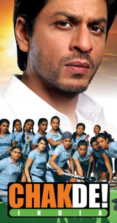 Directed by Shimit Amin. With Shah Rukh Khan, Vidya Malvade, Sagarika Ghatge, Shilpa Shukla. Kabir Khan is the coach of the Indian Women's National Hockey Team and his dream is to make his all girls team emerge victorious against all odds. Srk Movies, Movies To Watch Hindi, Good Movies, Free Hd Movies Online, Hindi Movies Online, Indian Movies Bollywood, Chak De India, Kabir Khan, A Team