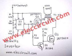 scr mini power inverter circuit diagram project in 2019 circuit