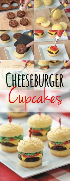 Cheeseburger Cupcakes Recipe From Nerdy Nummies                                                                                                                                                                                 More