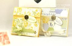 Pootles Stampin Up UK Tea Bag Treat Pouch Tutorial 2