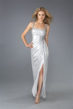 Striking Silver Long Prom Dress - New Prom Collection ~ Ladies Fashion Style
