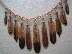 Come Fly with Me  Copper Feather Necklace by BlackHawkCreations, $200.00