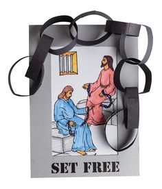 """Set Free Frames (728-191) from Guildcraft Arts & Crafts! This craft is a strong reminder for kids that believing in God helps free us from life's struggles, just as Paul and Silas were set free. Includes ready-to-color pictures, preprinted  frames, precut paper strips and glue. 5"""" x 7"""". Decorating supplies sold separately. #VBS #VBS2013 #VBS13"""