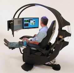 Love this workstation  modernwork Pc Gaming Chair, Computer Desk Chair, Gaming Setup, Computer Tables, Computer Gadgets, Pc Desk, Desk Setup, Technology Gadgets, Gaming Computer