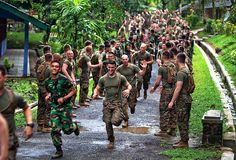 Marines show Indonesian forces how they PT. (U.S. Marine Corps photo by Cpl. John C. Lamb/Released)
