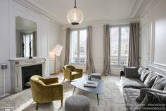 Rénovation et décoration d'un appartement Haussmanien de 200 m2#salon# WOM Design - Stéphanie Michel-Girard - Côté Maison