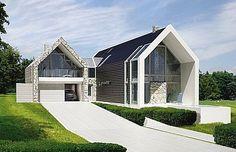Projekty nowoczesnych domów jednorodzinnych :: Najciekawsze Projekty Domów - LK&Projekt