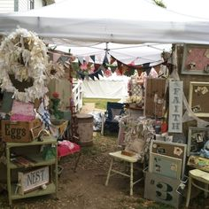 Take Flyte Farm booth in Round Top Texas Spring 2013