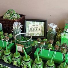 camouflage birthday party ideas for boys Camouflage Birthday Party, Army Birthday Parties, Army's Birthday, Camo Party, Nerf Party, Birthday Party Themes, Birthday Ideas, Paintball Birthday, Hunting Birthday