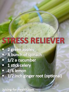 .stress reliever juicing!  Try this the next time on the way to the store. www.ultimateserenitymassage.com