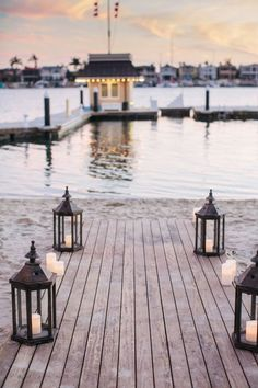 {Things I Love Thursday} Boat Dock Weddings