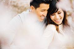 東京での桜エンゲージメントフォト | kuppography wedding photo blog