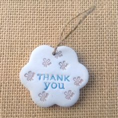 Thank You Hanging Clay Gift by flowercraftsboutique on Etsy