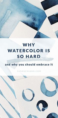 Why Watercolor Is So Hard (and why you should embrace it) Watercolor Paintings For Beginners, Watercolor Art Lessons, Beginner Painting, Watercolour Tutorials, Watercolor Techniques, Painting Tutorials, Art Tutorials, Liquid Watercolor, Watercolor Cards