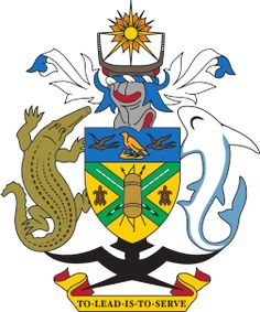 Brasão de armas das Ilhas Salomão. Coat of arms of Solomon Islands.