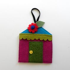 Rescued Wool Ornament  Winter Cottage Series  by aliciatodd, $8.99