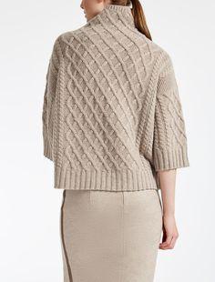 Max Mara CANTONE sabbia: Maglia in lana e cachemire.