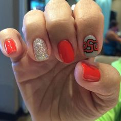"""Giving some OSU Cowboys love for homecoming weekend!  #osu #osufootball #osuCowboys #cowboys #collegeFootbal #goPete #goCowboys #getpolished #getPamperedAtPolished #polishednailsok"" Photo taken by @polishednailsok on Instagram, pinned via the InstaPin iOS App! http://www.instapinapp.com (10/24/2015)"