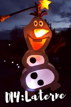 DIY: Olaf Laterne - Bidilis-Welt basteln Kinder selber machen kleinkind einfach Vorlage Art For Kids, Crafts For Kids, Woodland Party, Disney Frozen, Disney Diy, Diy Gifts, Latte, Diys, Presents