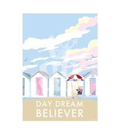Retro quote prints and posters are available to buy at www.beckybettesworth.co.uk  #travelposter #seasideprints #devonartist #beckybettesworth #daydreambeliever #madebyme