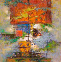 """Rick Stevens...amazing pastels on paper.  My favorite is at Hunter Kirkland Contemporary on Canyon Road...""""Things Are Relationships"""""""