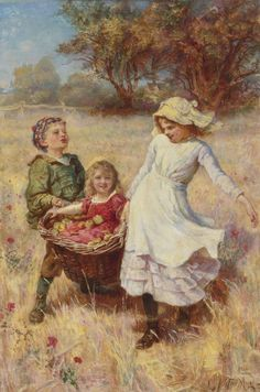Frederick Morgan (1847/1856-1927), was an English painter* of portraits, animals, domestic and country scenes. He became known for his idyllic genre scenes* of childhood. Morgan was born in London. He was commonly known as Fred Morgan and was the son of John Morgan, a successful genre artist sometimes known as 'Jury Morgan' (after one of his paintings The Gentlemen of the Jury).