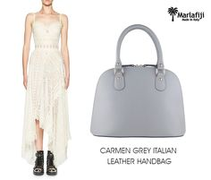 "Marla Fiji Carmen Grey Italian leather Dome bag back by popular demand........ Perfect neutral bag. A color that will work well with your entire wardrobe ... A bag that will carry you from the day into the evening ..Additional detachable shoulder straps for effort less cross body wear ... Carmen is knock out  SHOP NOW-------> https://goo.gl/k1DGE8   ""FREE SHIPPING WITHIN AUSTRALIA""!! #Marlafiji #TopModel #Italian #leatherhandbags"