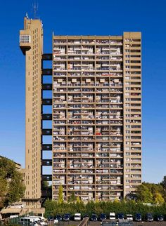 An poster sized print, approx (other products available) - Trellick Tower, 5 Goldborne Road, North Kensington, London. by Erno Goldfinger. General view of elevation. - Image supplied by Historic England - poster sized print mm) made in Australia Council Estate, Council House, London Architecture, Space Architecture, English Architecture, Orange County, Brutalist Buildings, Tower Block, Modern Architecture