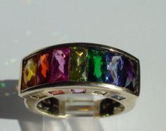 Stunning rainbow ring- indulges my love of colour!