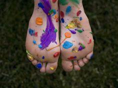 painted feet!