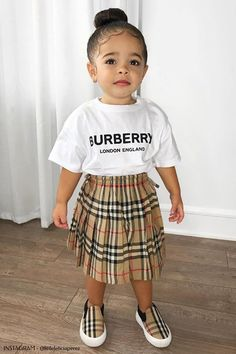 Shop Burberry Kids Designer Kids Clothing from UK at Leading Children's Stores. Cute Little Girls Outfits, Kids Outfits Girls, Toddler Girl Outfits, Kids Girls, Cute Kids Fashion, Baby Girl Fashion, Toddler Fashion, Little Kid Fashion, Child Fashion