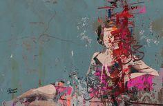 """Hossam Hassan; Paint, 2012, Mixed Media """"Vanishing Charm"""""""
