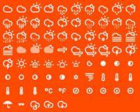 Pack de 75 iconos sobre climatología