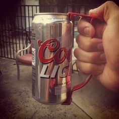 Beer Can Handle, $5 | 29 Clever Gifts For People Who Love To Drink  ------ So my beer wont warm up so fast