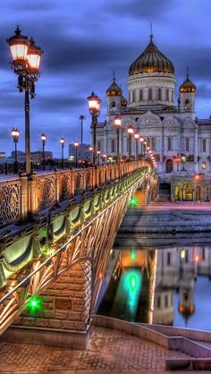 Moscow Bridge And Cathedral Of Christ The Saviour