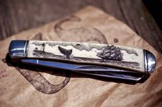 finefinds:  Heirloom Scrimshaw Knife Kit Link The name says it all. The idea of this knife kit is to provide you with everything you need to...