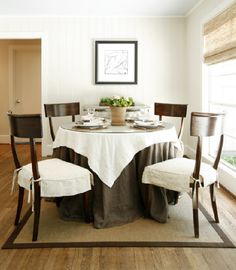 Simple slipcover for dining chairs